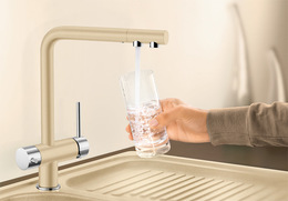 Гранитный кухонный смеситель BLANCO - Fontas - жемчужный/хром (520743) ID:NL010806