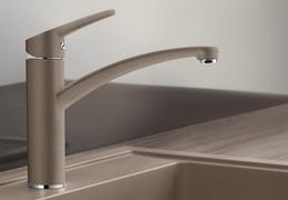 Гранитный кухонный смеситель BLANCO - Nea - серый беж (519410) ID:NL010837
