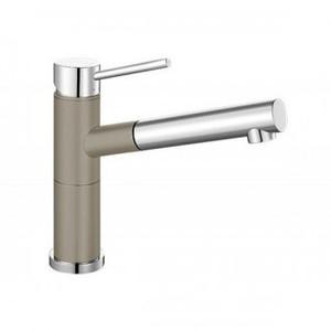 Гранитный кухонный смеситель BLANCO - Alta-S Compact серый беж/хром (517634) ID:NL010783