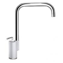 Гранитный кухонный смеситель BLANCO - Ajaris белый/хром (520817) ID:NL02850