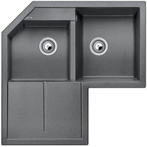 Гранитная кухонная мойка BLANCO - Metra 9 E антрацит (515576) ID:NL010712