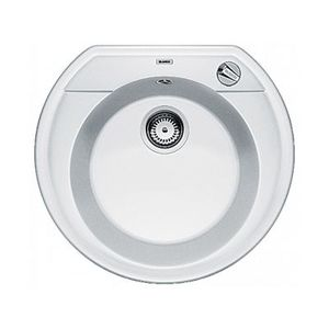 Гранитная кухонная мойка BLANCO - Rondoval 45 - белый (515671) ID:NL010730